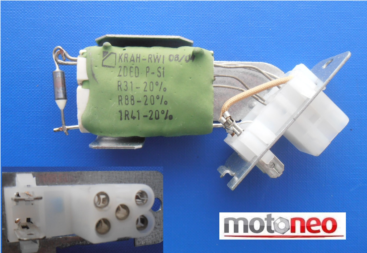 Genuine Valeo Heater Blower Resistor Opel Vauxhall Vectra A Calibra The Motor And Wiring To Components Image Is Loading